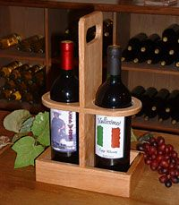 Wine Bottle Glass Holder, Bottle Rack, Bottle Box, Wine Caddy, Wine Tote, Woodworking Diy Workbench, Wood Projects That Sell, Wine Carrier, Wine And Beer
