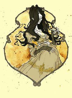 Abigail Larson or *mirrorCradle on deviantArt Harry Potter Fan Art, Harry Potter Characters, Female Characters, Disney Halloween, Slytherin Pride, Abigail Larson, Dark Art, Art Drawings, Books