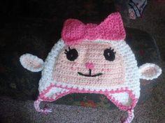 Lammie (Doc McStuffins) crochet hat - NOT just a pattern!