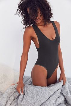 5d9d1590b84 Slide View  5  Out From Under Micah Seamless Ribbed Bodysuit Urban  Outfitters