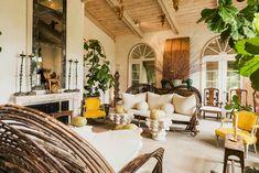 The Napa Valley living room of consummate hostess and winemaker Alexis Swanson Traina, designed by Thomas Britt (November 2013).