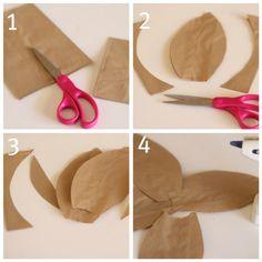 DIY brown paper bag flowers #craft