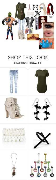 """""""A hardy and the Masked Man(Sin Cara(Hunico) Love Story)"""" by anaeve ❤ liked on Polyvore featuring rag & bone/JEAN, Alexander Wang, Sephora Collection, Sienna Sky, Forever New, Emi Jewellery, Forever 21 and LE3NO"""