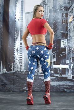 Shop unique WONDER WOMAN leggings on 50% SALE ideal for workouts of any kind. Superhero compression leggings will keep you locked in and make you feel invincible!