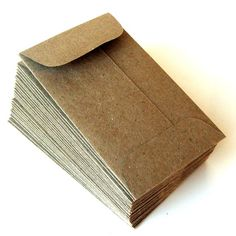 10 Enveloppes en papier KRAFT naturel mini sac brun. par scrapbits, $3.00