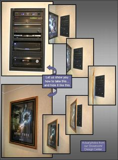 Home Theater Control panel hidden w/movie poster