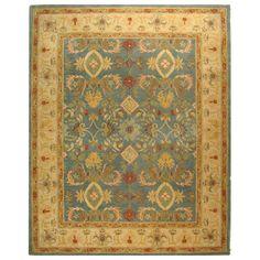 Handmade Legacy Light Blue Wool Rug (9'6 x 13'6) | Overstock.com