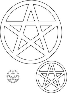 Encircled pentagrams contains and protects. Each point represents the 5 elements (Spirit, Earth, Air, Water and Fire) being all connected.