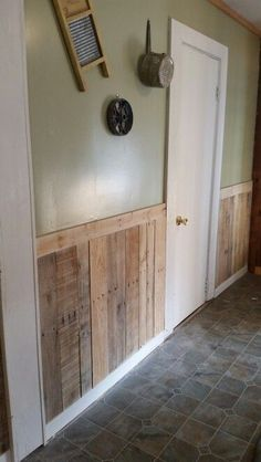 Pallets make great accents in the kitchen.