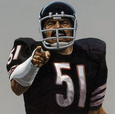 """The Intimidator"" Dick Butkus (detail) by Whitney Studios"