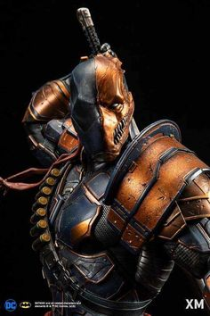 Deathstroke (samurai series) ¼ scale statue by XM Studios Dc Deathstroke, Deathstroke The Terminator, Deadshot Mask, Comic Book Characters, Marvel Characters, Comic Character, Character Design, Marvel Vs, Marvel Comics