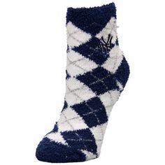 New York Yankees For Bare Feet Women's Argyle Sleepsoft Socks
