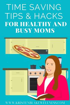 Quick Healthy Eating Hacks for Busy Moms Are you super busy and feel like you have no free time to focus on eating healthy? Me too. I get it. Who isn't?! Seriously. The good news is that you don't have to sacrifice healthy eating just because you're busy. These time saving tips can help you reach all your health and wellness goals, with time to spare. See more here! #HealthyEating #BusyMoms #MomLife #SavingHacks #SaveTime #Wellness #HealthyMom #Healthyliving