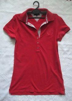 Tommy Hilfiger-czerwona długa bluzka polo-38 Kup mój przedmiot na #vintedpl http://www.vinted.pl/damska-odziez/bluzki-z-krotkimi-rekawami/11417393-tommy-hilfiger-czerwona-dluga-bluzka-polo-38