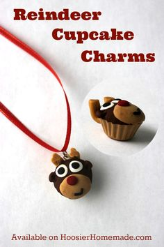 Love cupcakes? These Reindeer Cupcake Charms are adorable! Grab yours today! Pin to your Style Board!
