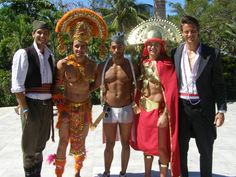 Men Universe Model 2011: Serbia, Ecuador, USA, Peru and Luxembourg in their national costumes.