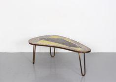 Kidney Shaped German Ceramic Coffee Table 1960s