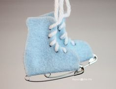 Safety Pin Ice Skates - Felt | DIY