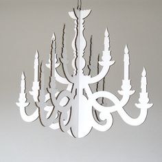 Small White Party Chandelier  Cardboard Chandelier by FabParlor, $10.00