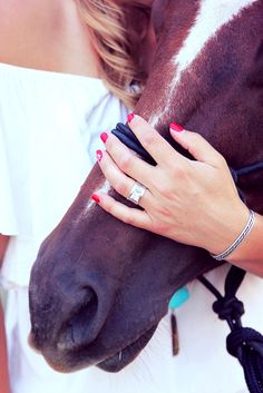 Horse Engagement Photos, Western Engagement Rings