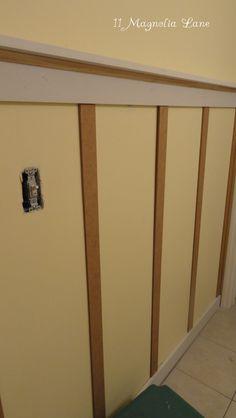 Board and Batten Wall Treatment in the Kids' Bathroom |