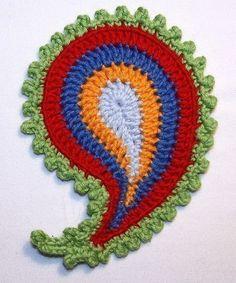 Paisley crochet pattern
