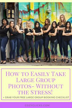 Tricks and tips for photographers on how to take photos of large groups. Photo tips for large group portraits.