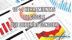 #HerramientasDeGoogle #HerramientasDigitales 10 +1 Herramientas de Google que deberías conocer