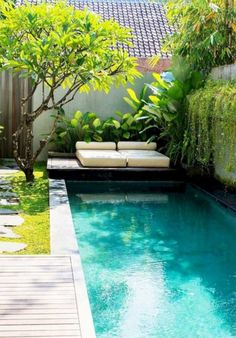 46 Attractive Small Pool Backyard Designs Ideas To Inspire You pool landscaping 46 Attractive Small Pool Backyard Designs Ideas To Inspire You Small Swimming Pools, Small Pools, Swimming Pools Backyard, Swimming Pool Designs, Backyard Pool Landscaping, Backyard Pool Designs, Landscaping Ideas, Courtyard Pool, Backyard Ideas For Small Yards