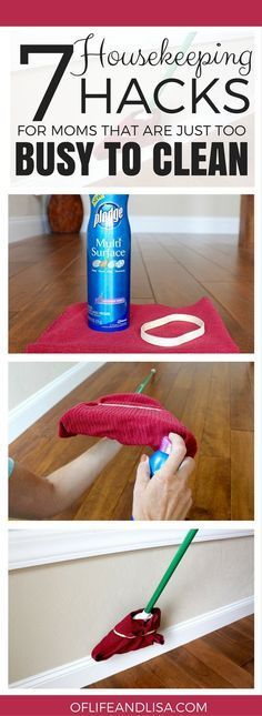 In this post, you will learn how to save time and money with these simple cleaning hacks. Keep your house in order and keep your sanity in tact with these amazing cleaning tips for busy people. Time-Saving Cleaning Tips Affiliate links included. Full disclosure here. 1. Clean your baseboards with a broom.  via House Tipster … … Continue reading → #howtoclean