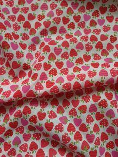 Funky Strawberrys Poly/Cotton