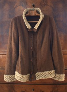 Celtic cabled cardigan by Lusianne R. - free