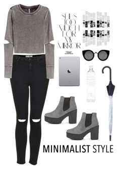 """""""Nothing is Missing"""" by henna-kid ❤ liked on Polyvore featuring Topshop, H&M, Quay, Hunter, Rika, grey, trend, Minimalist and winterstyle"""