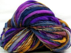 Kitty Grrlz Hand Spun Merino Wool Yarn, bulky thicknthin, see all Kitty Grrlz yarns in my etsy shop here - http://www.etsy.com/shop/kittygrrlz