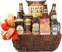 boyfriend gift basket Love This : International Beer Traveler Gift Basket Creative Gift Baskets, Gift Baskets For Him, Valentine's Day Gift Baskets, Birthday Gift Baskets, Wine Baskets, Birthday Gift For Him, Basket Gift, Beer Christmas Gifts, Christmas Gift Baskets
