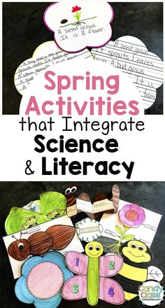 Find spring activities for integrating science and literacy. Finding time to teach science in the primary classroom is not hard. Children will enjoy these science-fused literacy activities. Science Words, Science Topics, Cool Science Experiments, Teaching Science, Science For Kids, Teaching Resources, Reading Response Activities, Literacy Activities, 1st Grade Science
