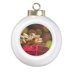 Christmas Presents Ceramic Ball Christmas Ornament - Xmas ChristmasEve Christmas Eve Christmas merry xmas family kids gifts holidays Santa