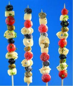 Pasta salad - Kid food on a stick #kids #food