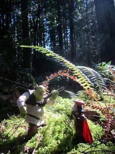 shrek in the forest action figure art