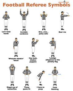 I Love Charts — pleatedjeans: football referee symbols