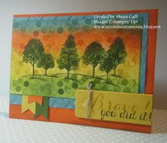 Stress-Free Stamping with Shana: The Stamp Review Crew: Lovely as a Tree Edition, Shana Gaff, Stampin' Up!, greeting card, Congratulations, pencil eraser,
