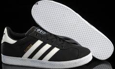 promo code 7c2b0 0f094 Adidas Originals Gazelle para Hombre Zapatillas de Lona Negro Blanco Madrid  Horario