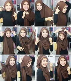 I have collected hijab styles step by step tutorial. It consists of steps required to wear beautiful hijab styles. These steps for hijab styles are easy. Square Hijab Tutorial, Simple Hijab Tutorial, Hijab Style Tutorial, Diy Tutorial, Islamic Fashion, Muslim Fashion, Hijab Fashion, Nail Fashion, Fashion Outfits