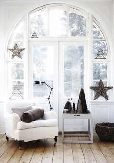 A white Christmas with star #Christmas