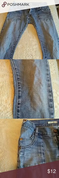BOGO Levi's 504 Low Rise Straight Leg Jeans Well loved and distressed. Levi's Pants Skinny