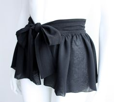 Chiffon Peplum Mini Ruffle Belt Black - so cute!