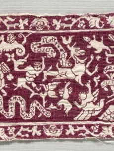 Embroidered Band    Italy, 16th-17th century    Date: 1500s - 1600s    Medium: embroidery; silk on linen    Dimensions: Overall - h:11.50 w:34.30 cm (h:4 1/2 w:13 1/2 inches)