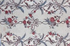 A printed cotton 'Indienne' robe, French, the - by Kerry Taylor Auctions Fabric ca.