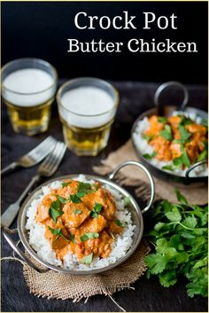 Crock Pot Butter Chicken - An easy meal that the adults and kids will love!
