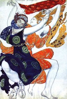 Russian artist Leon Bakst 's rich style of costume design for Ballet Russes while in Australia . Uniquely beautiful .The Ballet Russes bought significant change to Australian Ballet .